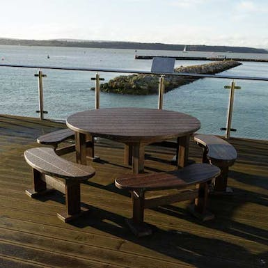 Captain's Table and Chairs Set