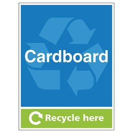 Cardboard Recycle Here - Portrait
