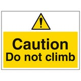 Anti-Climb Signs