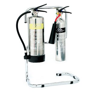 Chrome Fire Extinguisher Stands