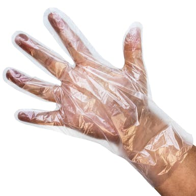 Clear HDPE Polythene Gloves
