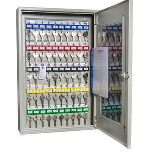 Clear Fronted Perspex Key Cabinets With Electronic Cam Lock