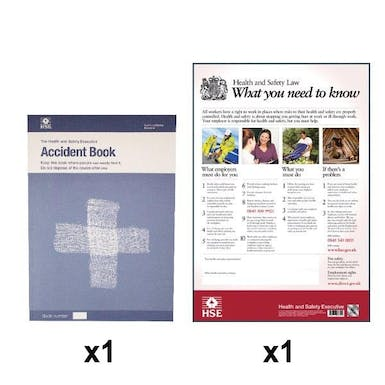 HSE Law Poster and HSE Accident Book Bundle