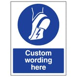 Custom Anti Static Footwear Sign