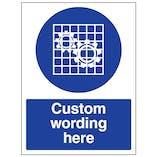 Custom Check Guard Sign