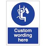 Custom Close Safety Bar Sign