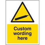 Custom Compressed Gas Sign
