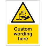 Custom Corrosive Substance Sign