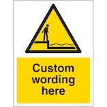 Custom Deep Water Sign