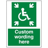 Custom Disabled Assembly Point Sign