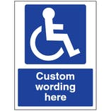 Custom Disabled Access Sign