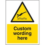 Custom Diving Sign