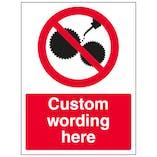 Custom Do Not Oil Sign