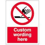 Custom Do Not Use For Face Grinding Sign