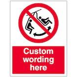 Custom Do Not Swing The Chair Sign