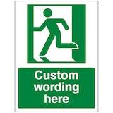 Custom Emergency Exit Left Sign
