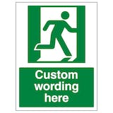 Custom Emergency Exit Right Sign