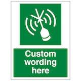 Custom Emergency Radio Beacon Sign