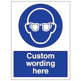 Custom Eye Protection Sign