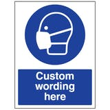 Custom Face Mask Sign