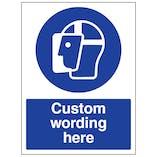 Custom Face Shield Sign