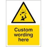 Custom Falling Objetcs Sign