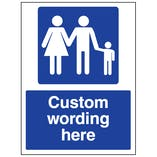 Custom Family Parking Sign