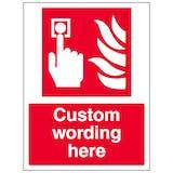 Custom Fire Alarm Call Point Sign
