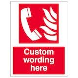Custom Fire Emergency Telephone Sign