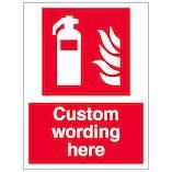 Custom Fire Extinguisher Sign