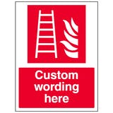Custom Fire Ladder Sign
