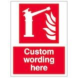 Custom Fire Monitor Sign