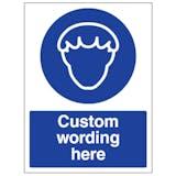 Custom Hair Protection Sign