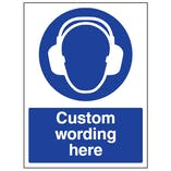 Custom Hearing Protection Sign