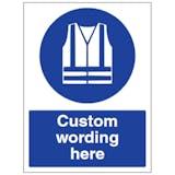 Custom Hi-Vis Clothing Sign