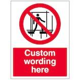 Custom Keep Off Scaffolding Sign
