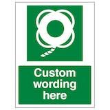 Custom Lifebuoy With Line Sign