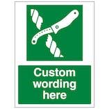 Custom Liferaft Knife Sign