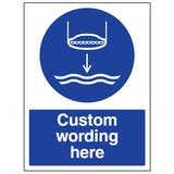 Custom Lower Lifeboat To Water Sign