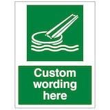 Custom Marine Evacuation Slide Sign