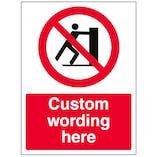 Custom No Pushing Sign