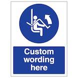 Custom Open Safety Bar Sign