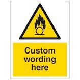 Custom Oxidising Substance Sign