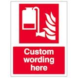 Custom Portable Foam Applicator Unit Sign