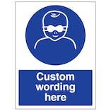 Custom Protect Infant Eyes Sign