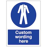 Custom Protective Clothing Sign