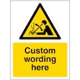 Custom Rapid Moving Equipment Sign