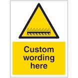 Custom Razor Wire Sign