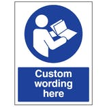 Custom Refer To Manual Sign