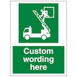 Custom Rescue Window Sign